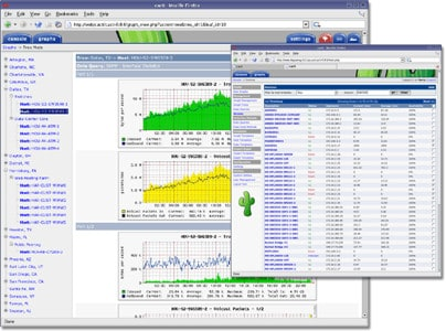 Linux system monitoring: Cacti screenshot