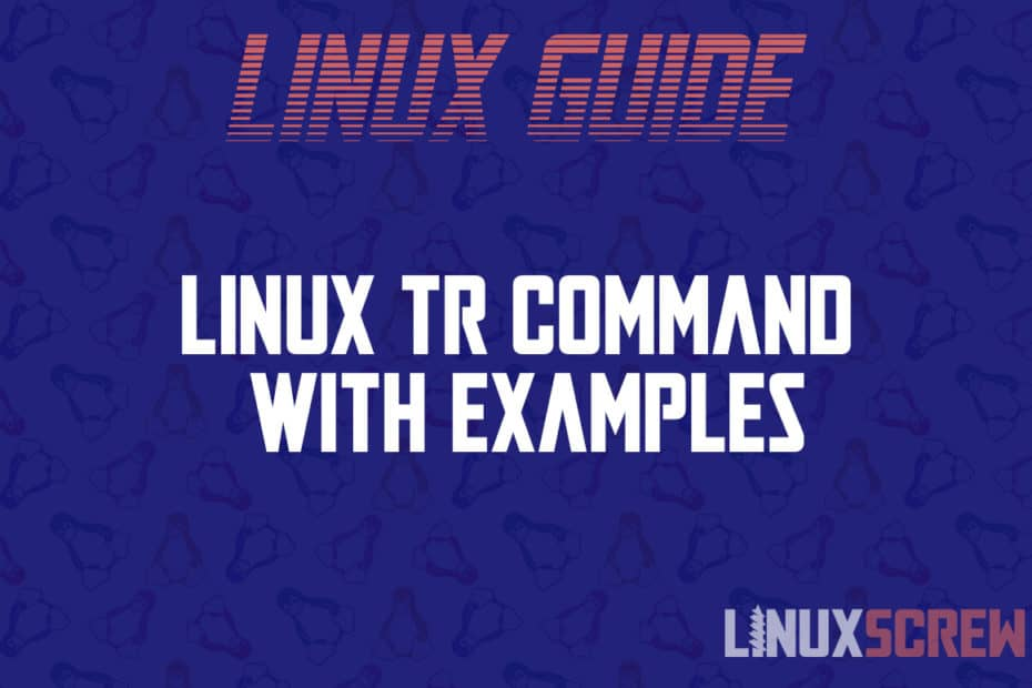 linux tr command 1