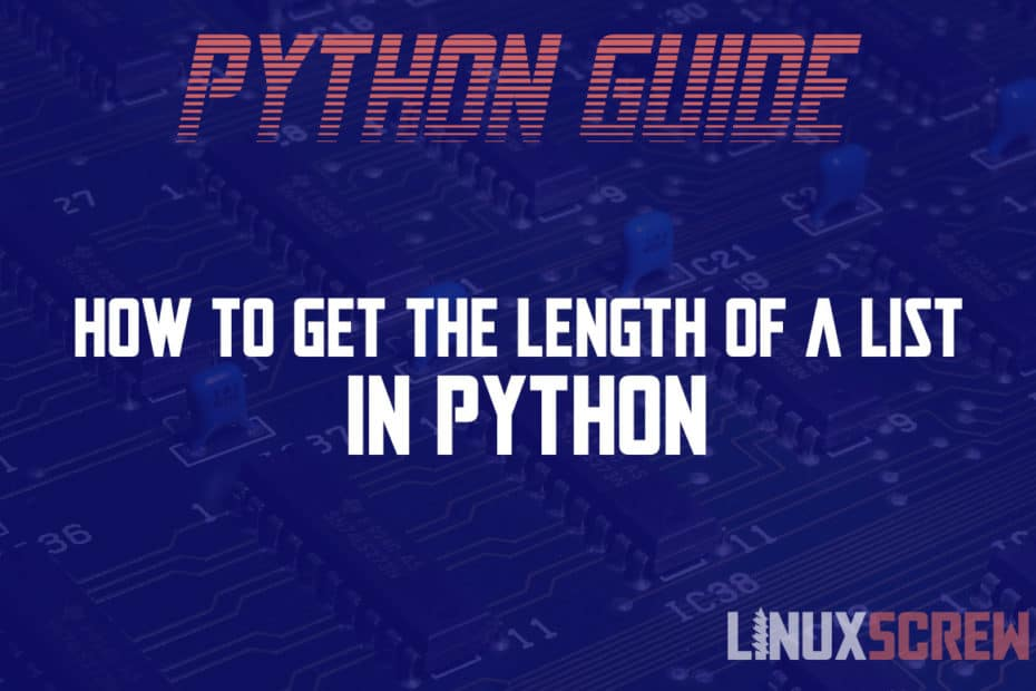 How to get the length of a list in Python