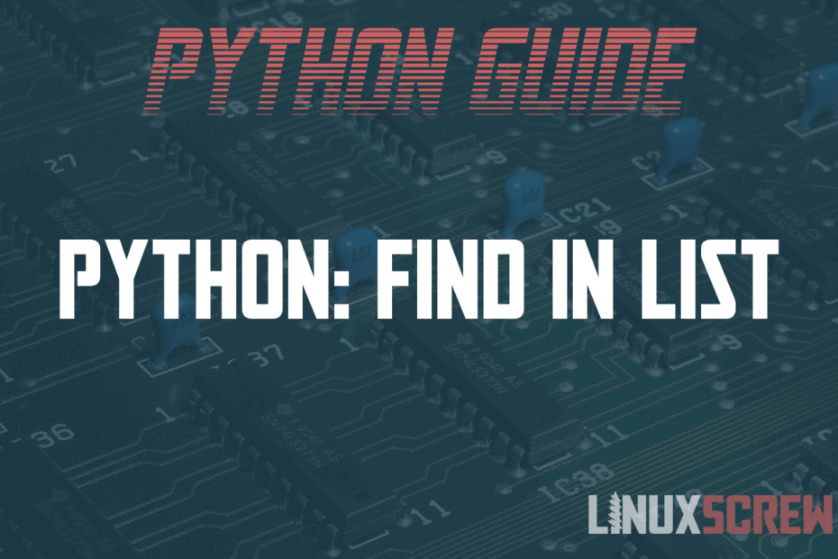python find in list