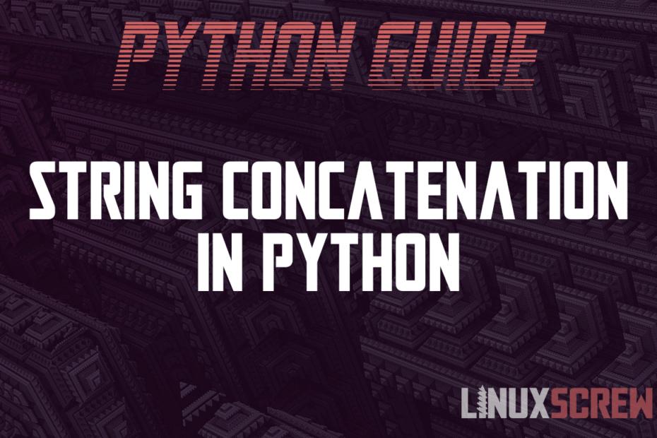 string concatenation python