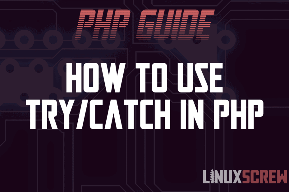 'try/catch' in PHP