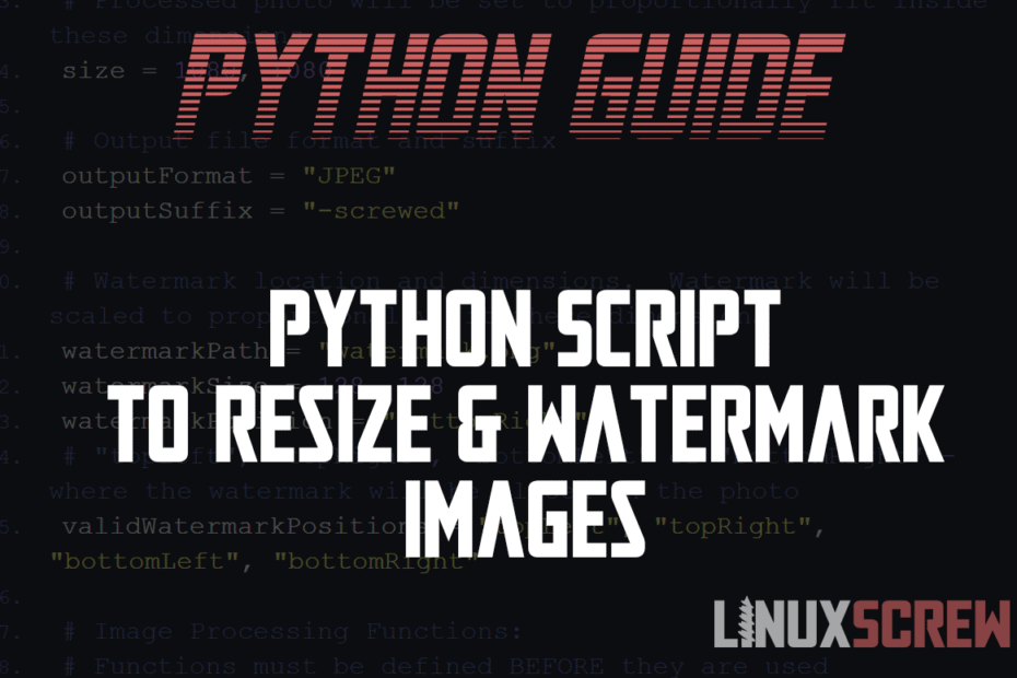 Building a Python Script to Resize Watermark Images