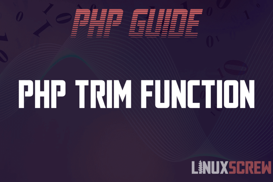PHP trim Function
