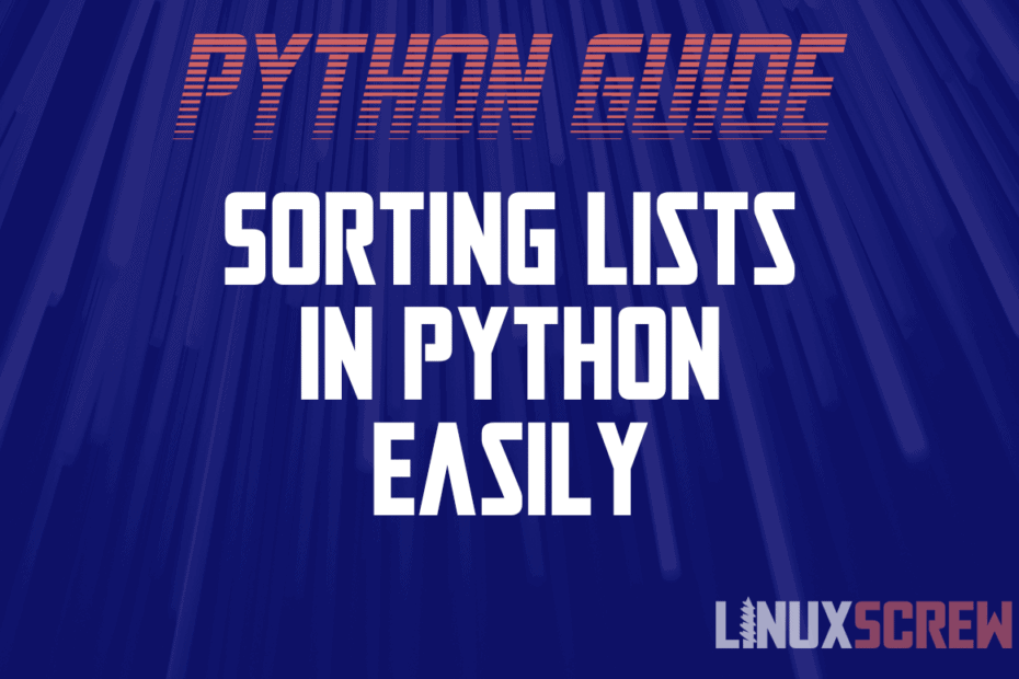 Sorting Lists in Python Easily