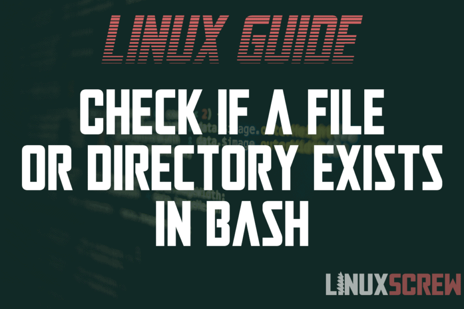 bash check if file exists