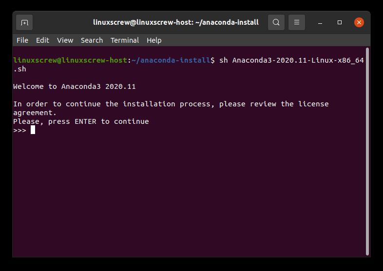 install anaconda ubuntu 1