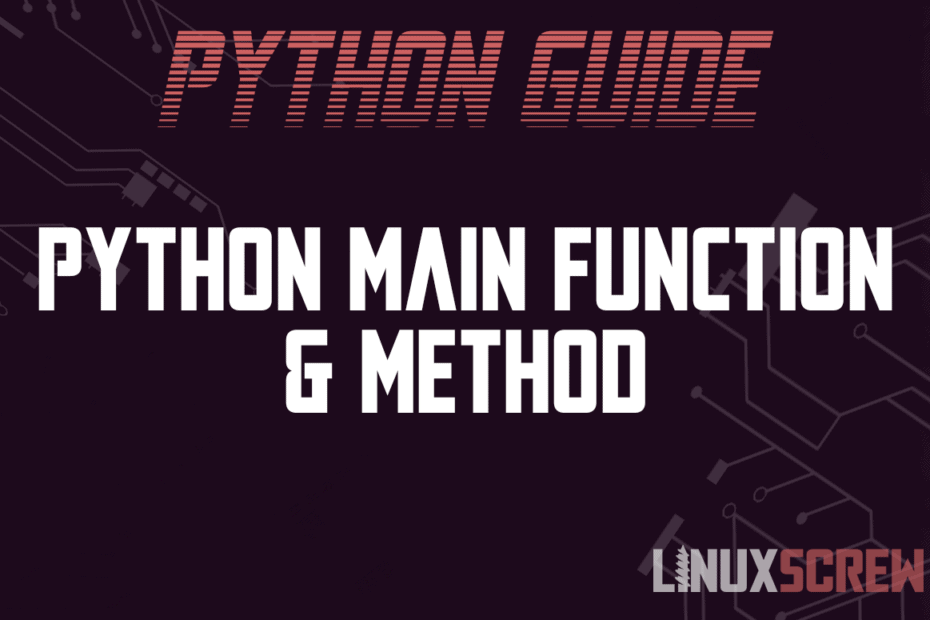 Python Main Function Method