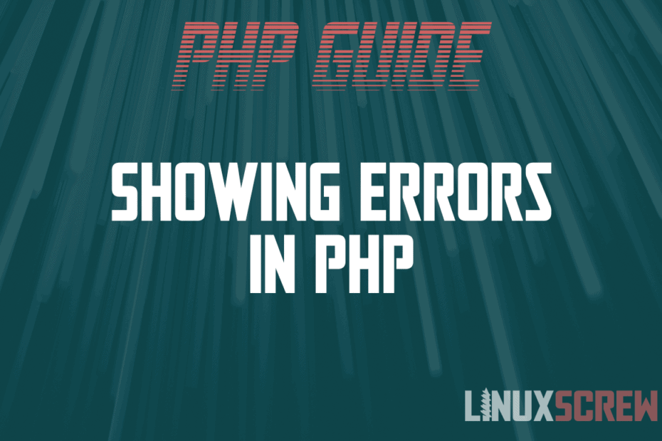 Showing Errors in PHP