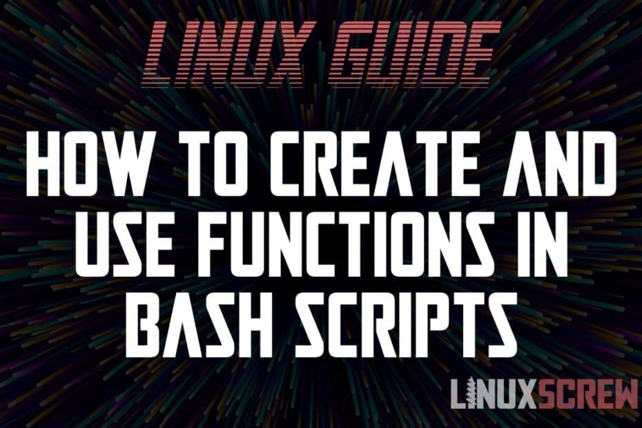Bash Function Uses