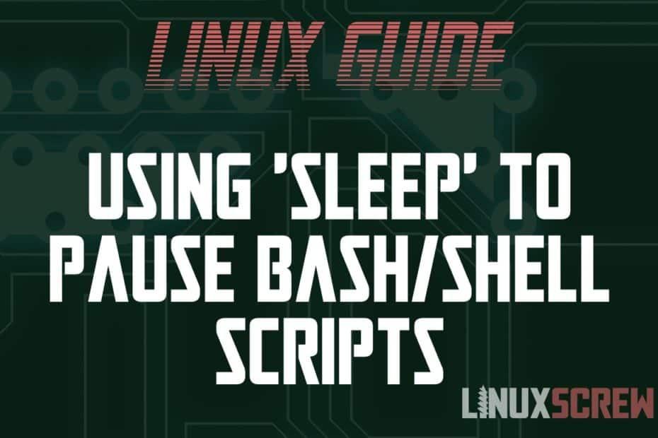 Bash sleep Command