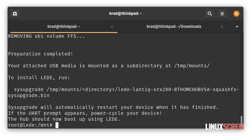 OpenWrt Installed