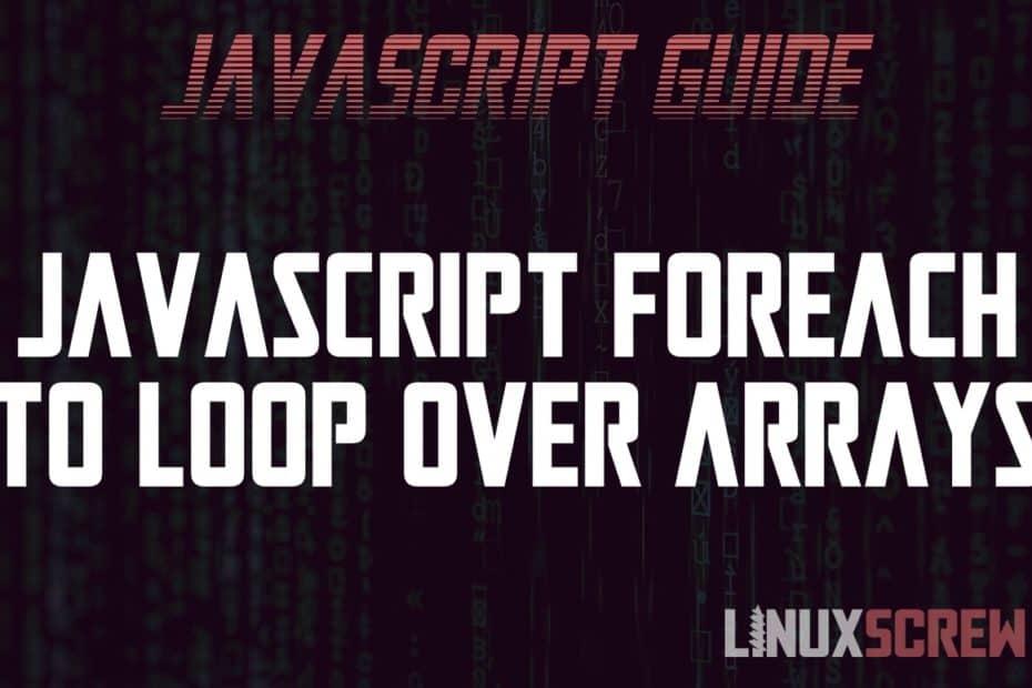 JavaScript foreach
