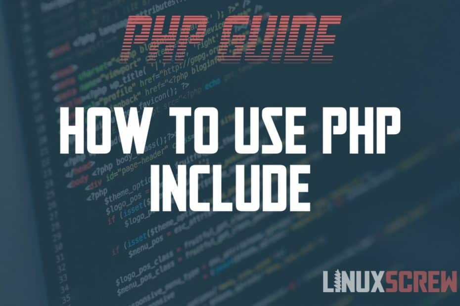 How to use PHP include