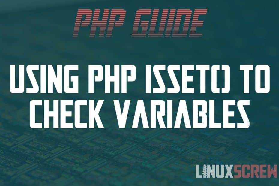 Using PHP isset()