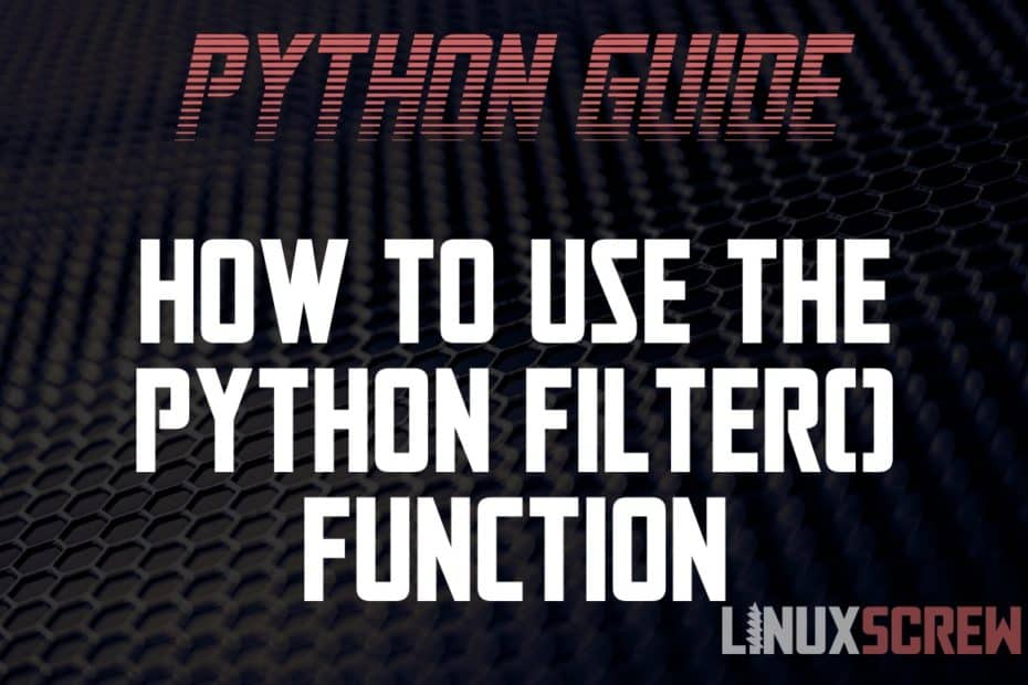 Using Python filter()