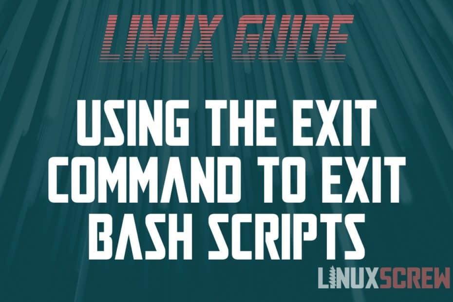 Bash Exit Script