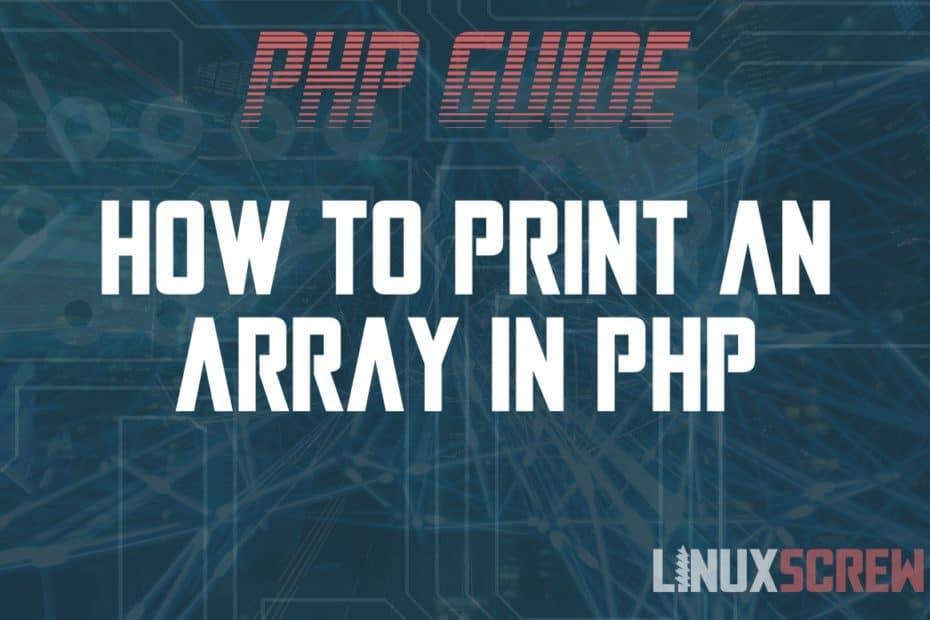 PHP Print Array
