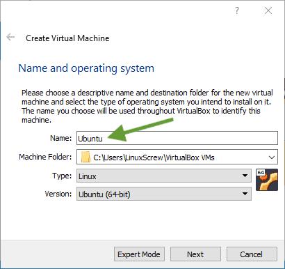 ubuntu virtualbox 15