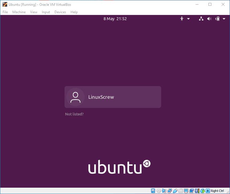 ubuntu virtualbox 40