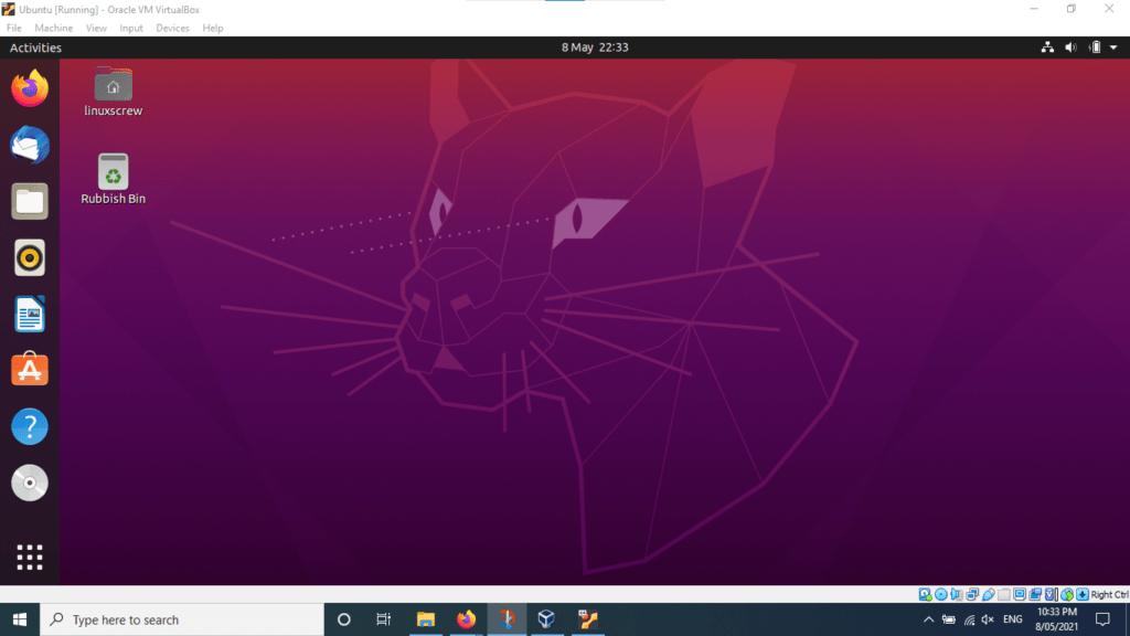 ubuntu virtualbox 65