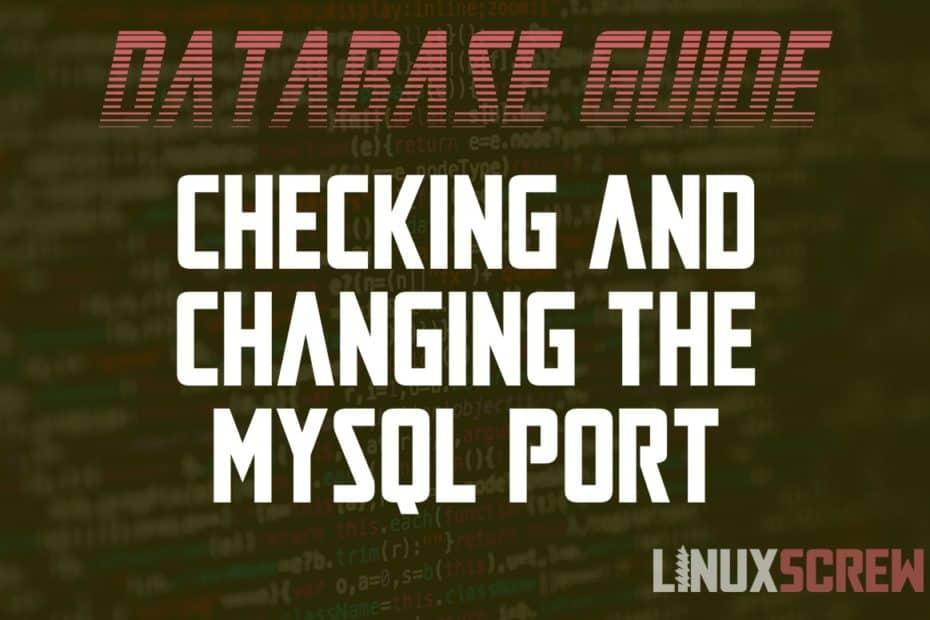Changing the MySQL Port